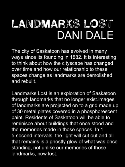 Landmarks lost artist statement